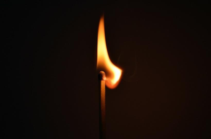 ignited matchstick