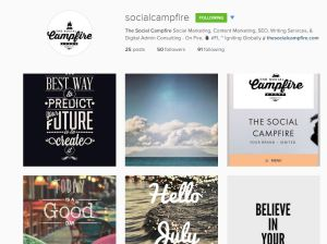 The Social Campfire Instagram Account