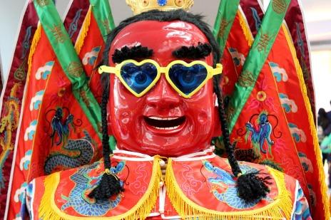 Happy Engaged Social Media Buddha