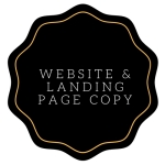 website copywriting and landing page copy