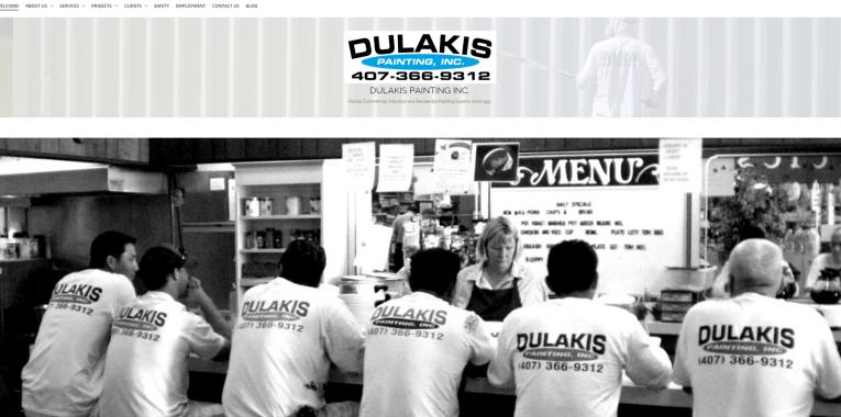 Dulakis Painting Web Design Website