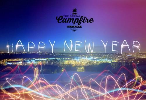 Social Campfire Happy New Year