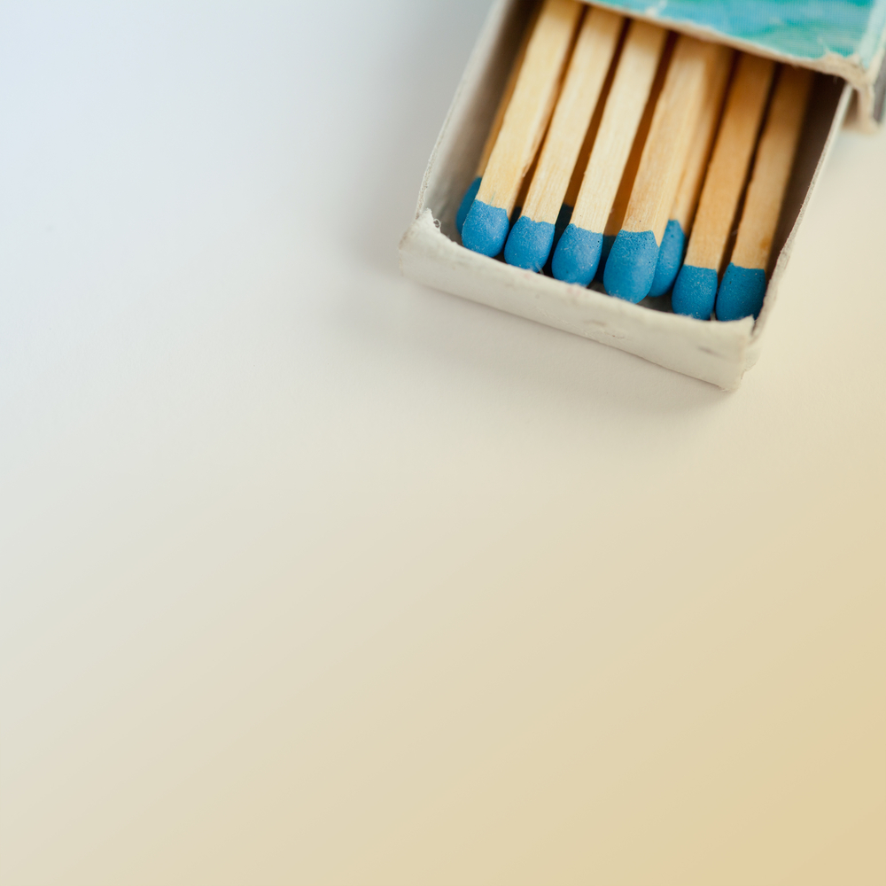 The Social Campfire Matchstick Branding Background